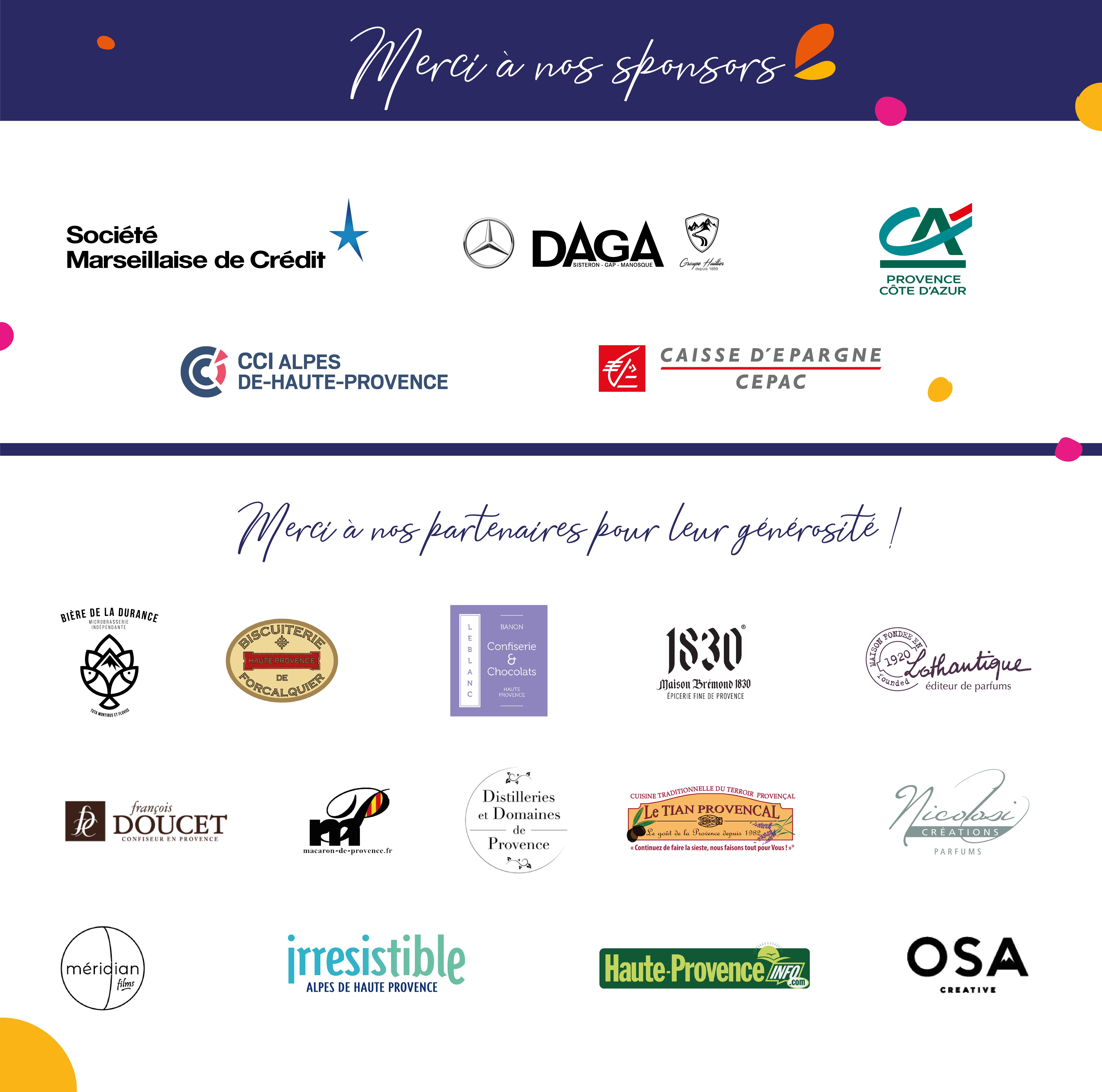 Partenaires et sponsors Trophées des entrepreneurs