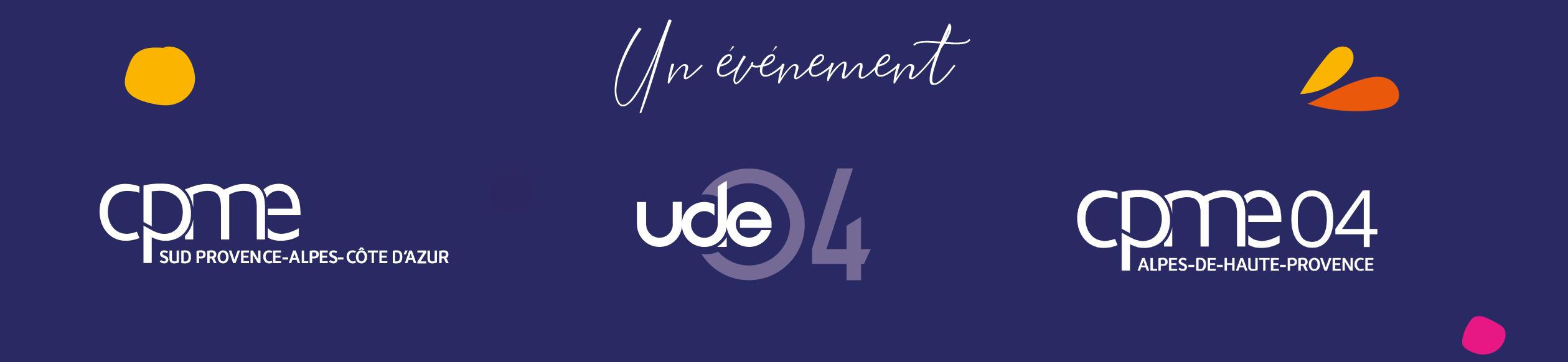 Logos de la CPME 04 CPME SUD et UDE 04