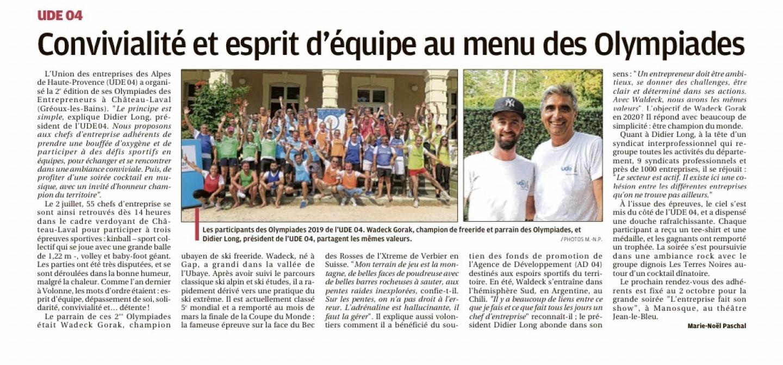 La Provence - Olympiades et Saponalia