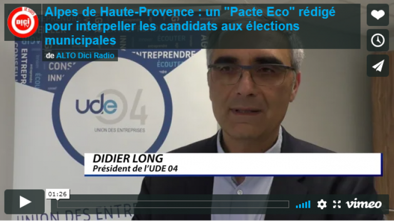 DICI TV / 3 mars 2020 / CCI et UDE04, un