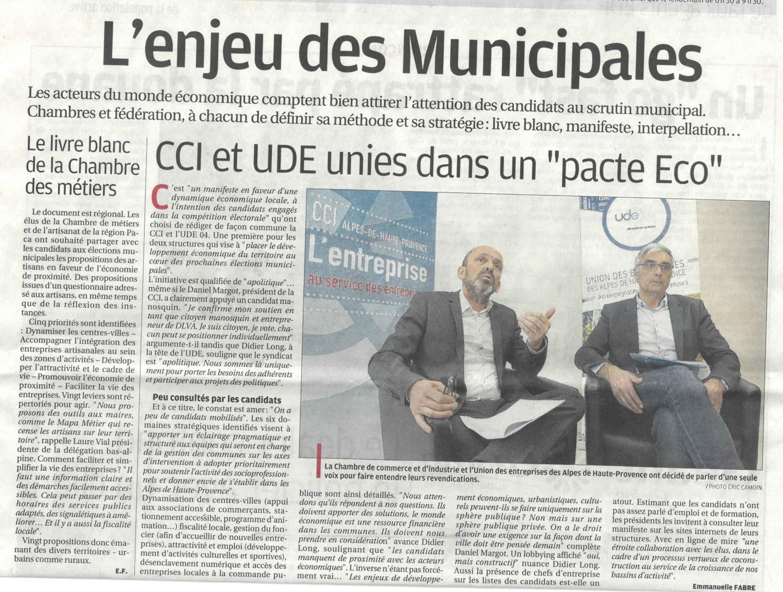 Fréquence Mistral / 4 mars 2020 / CCI et UDE 04 entendent peser sur les municipales