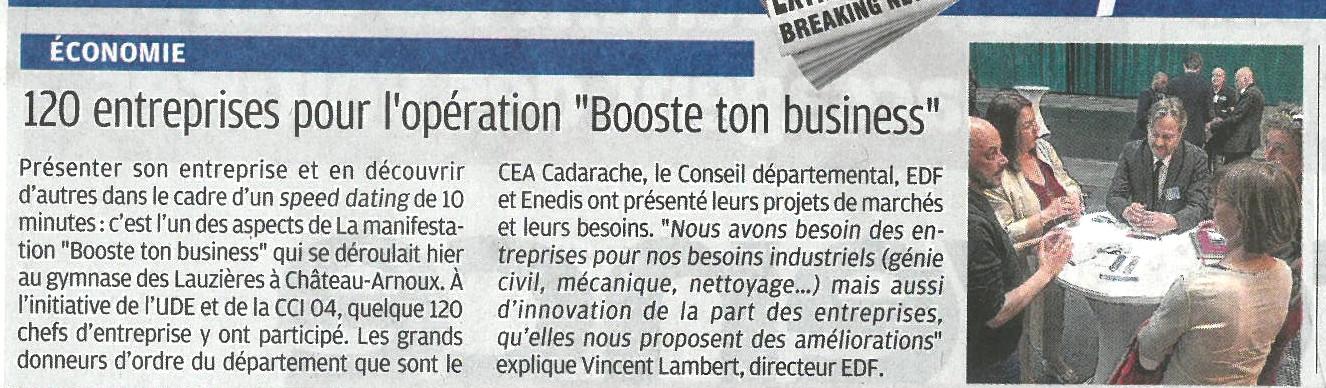 BOOSTE TON BUSINESS_LA PROVENCE_24 MAI