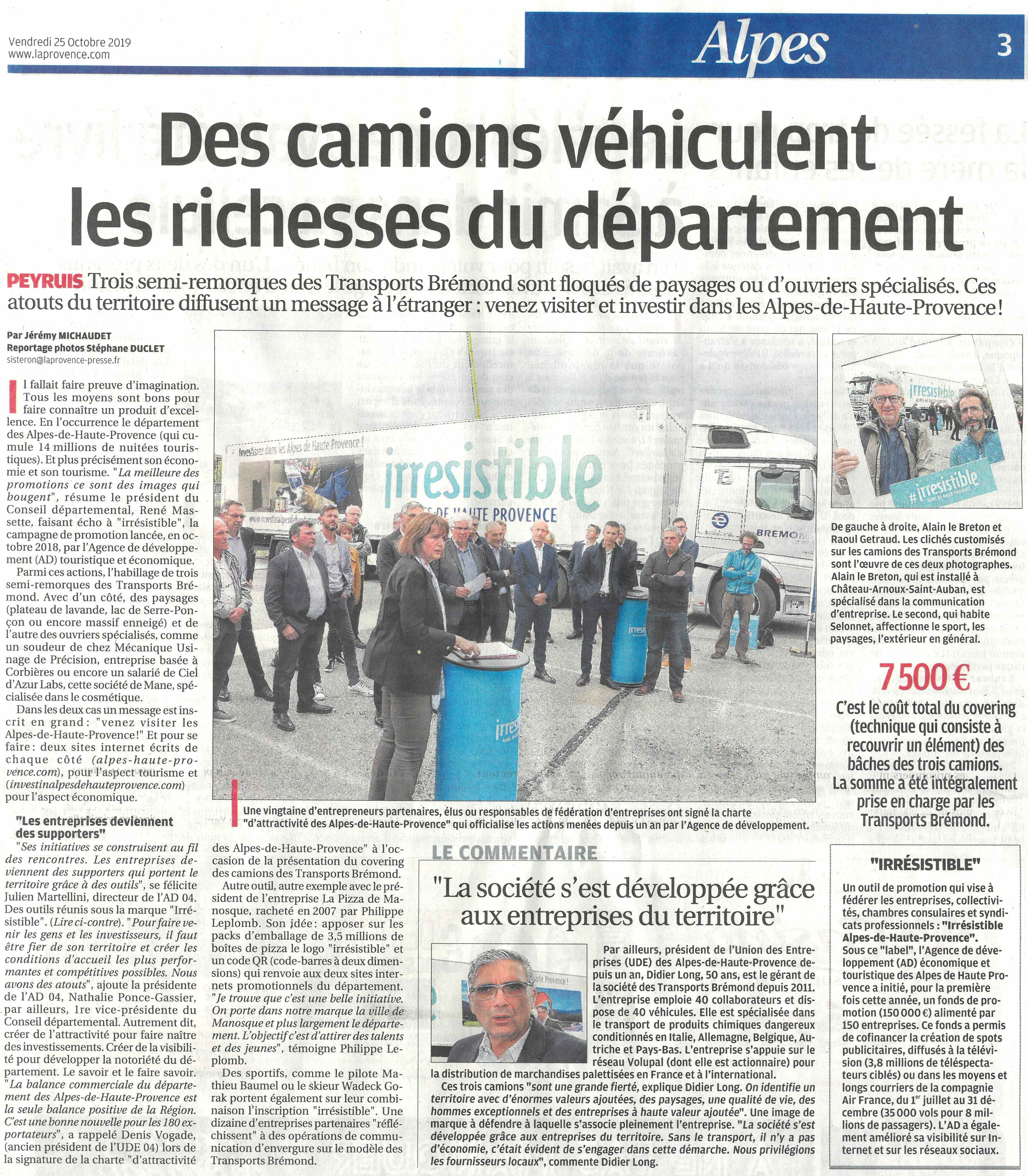 LA PROVENCE_IRESISTIBLE TRANSPORTS BREMOND_2510