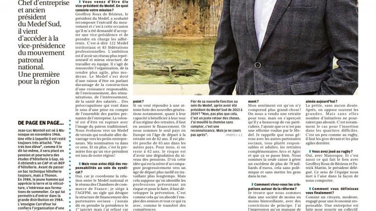 Jean-Luc Monteil, au coeur du Medef, il est la voix des territoires