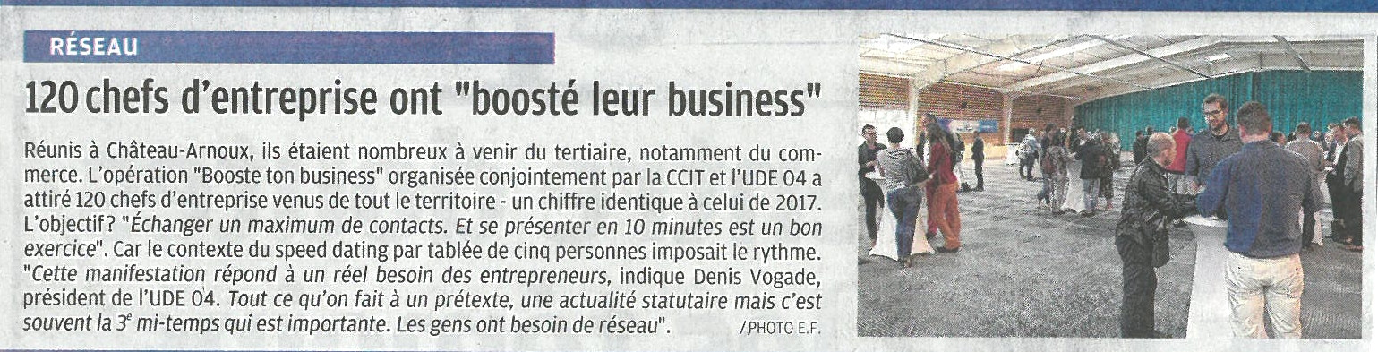 BOOSTE TON BUSINESS_LA PROVENCE 18 MAI
